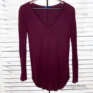 Gap | Shirttail V-Neck Long Sleeved Top
